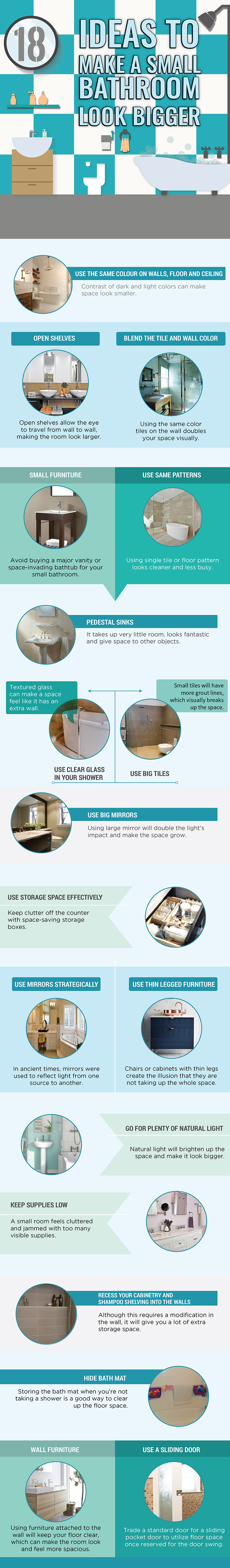 Small Bathroom Ideas To Make It Look Bigger 18 (of the best) ideas to make a small bathroom look bigger - 4 pumps